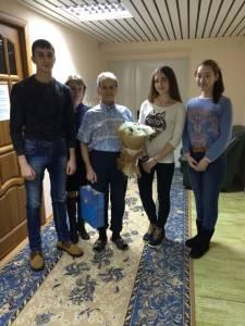 Поздравили ветерана В.О.В. Дудоладова Н.Г.